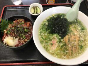 漬け丼+ラーメン