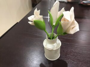 お花の紙ナプキン