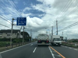 東総有料道路方面へ右