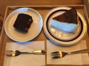 チーズケーキとガトーショコラ